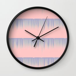 Drip Stripe Wall Clock