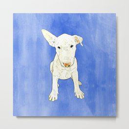 English bull terrier puppy pop art Metal Print