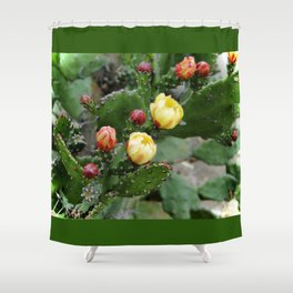 Cactus with flower Shower Curtain