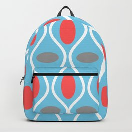 Mid Century Modern Waves and Spheres Backpack