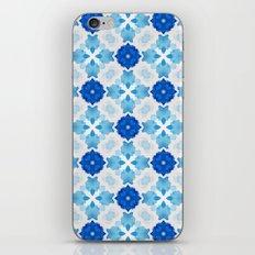 Watercolor Geometry Blue iPhone & iPod Skin