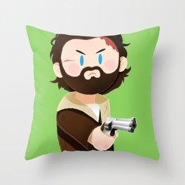 Little Warriors: Rick Throw Pillow