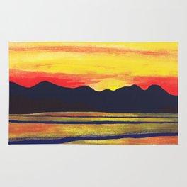 Salish Sea Sunset Rug