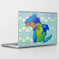 michigan Laptop & iPad Skins featuring Michigan by Dusty Goods