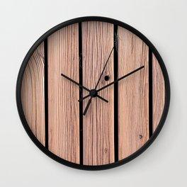 Wood Planks Wall Wall Clock