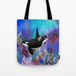 Under The Sea Orca Killer Whale Tote Bag