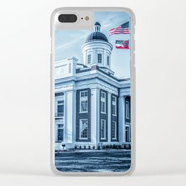 Deep South City Hall Clear iPhone Case