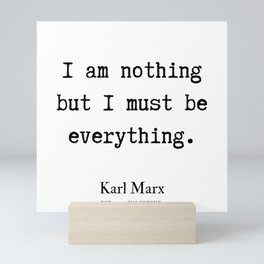 6   | Karl Marx Quotes | 190817 Mini Art Print
