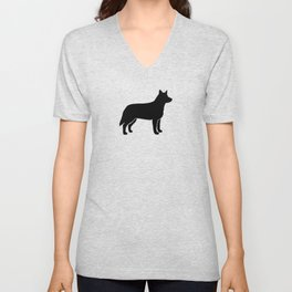 Australian Cattle Dog Silhouette(s) Unisex V-Neck