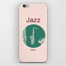 Jazz Relax and play sax iPhone & iPod Skin