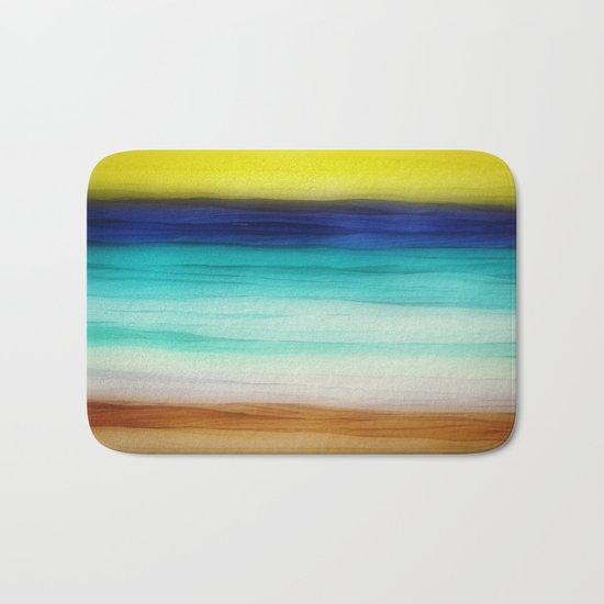 beach abstract Bath Mat