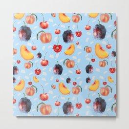 Stone Fruit Metal Print
