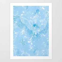 A Mild Breeze (Baby Blue) Art Print