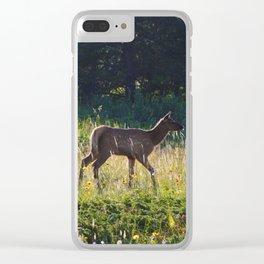 Elk calf in Jasper National Park Clear iPhone Case