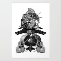 totem Art Prints featuring Totem by DIVIDUS