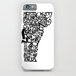 Typographic Vermont iPhone Case
