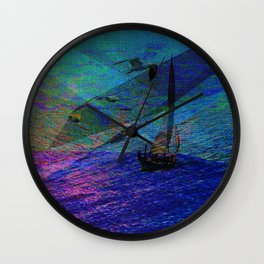 Segelboot Abstract Wall Clock