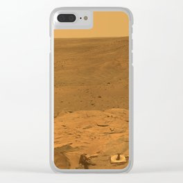 Panorama of Mars from Columbia Hills range inside Gusev Crater Clear iPhone Case