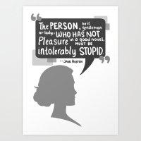 [Jane Austen] Book Lover Art Print