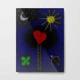 stair to heart Metal Print