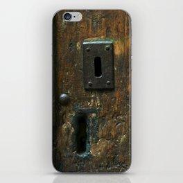 Old Wooden Door with Keyholes iPhone Skin