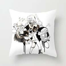 Paris Riots Throw Pillow