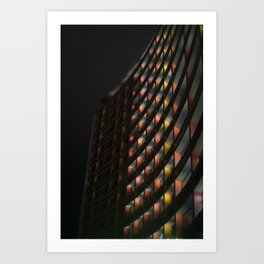 Curved Windows Art Print