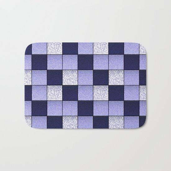 Blue Spotty Tiles Bath Mat