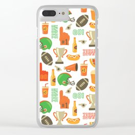 American Football pattern Clear iPhone Case