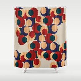 Jewel Tone Circle Print Shower Curtain