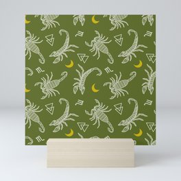 Scorpio Moon on Khaki Mini Art Print