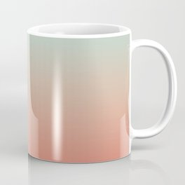 Ombre Living Coral with Turquoise Coffee Mug