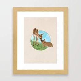Fawn & Bunny - Into the Woods Framed Art Print