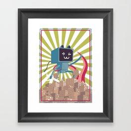 Go Go Mecha Kitty Framed Art Print