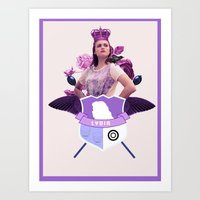 lydia martin Art Prints featuring lydia by Papa-Paparazzi