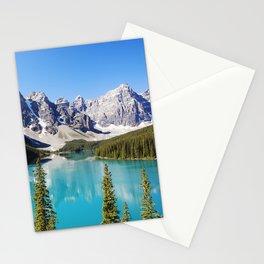Moraine Lake in Alberta, Canada Stationery Cards