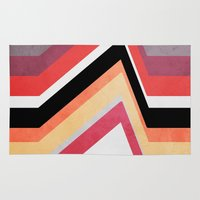 airplanes Area & Throw Rugs featuring geometric   by mark ashkenazi