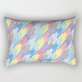 Multicoloured Houndstooth Rectangular Pillow