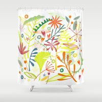 tropical Shower Curtains featuring Tropical by Nic Squirrell