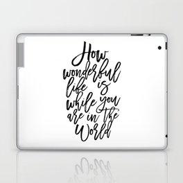 Elton Song Lyrics,How Wonderful,Girls Room Decor,Inspirational Quote,Hand Lettering,Quote Prints Laptop & iPad Skin