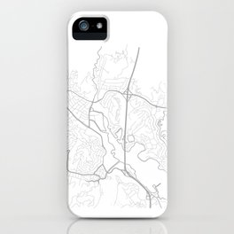 MILL VALLEY Map Print iPhone Case