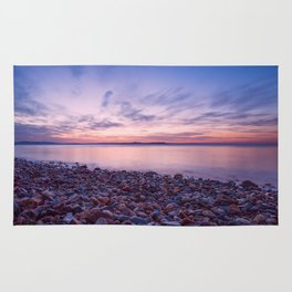 Seashore at sunset Rug