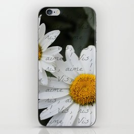 """Live, Laugh, Love"" in French iPhone Skin"
