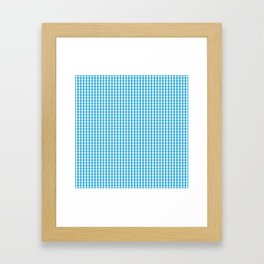 Oktoberfest Bavarian Blue and White Gingham Check Framed Art Print