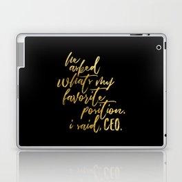 Feminist Quote Laptop & iPad Skin