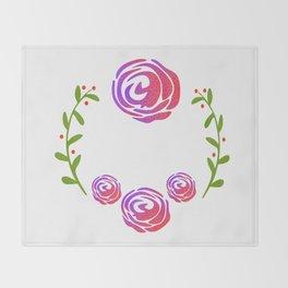 Floral Round Throw Blanket