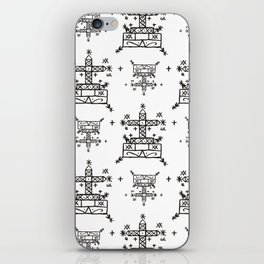 Baron Samedi Voodoo Veve Symbols in White iPhone Skin