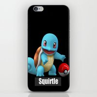 squirtle iPhone & iPod Skins featuring Squirtle 2 by Yamilett Pimentel