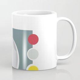 Abstract vintage geometric train shape pattern in pastel colors Coffee Mug