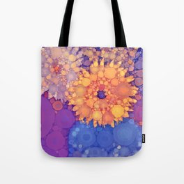 Vintage Flowers in the rain Tote Bag